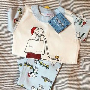 NWT Hanna Andersson Peanuts pajama set